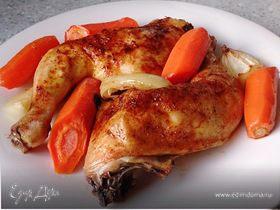 Запеченная курочка с морковью