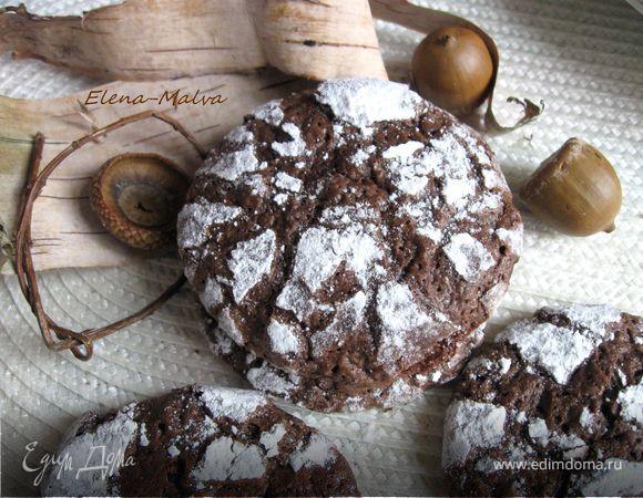 Печенье шоколадное Crinkles