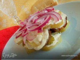 Мужской салат с мясом