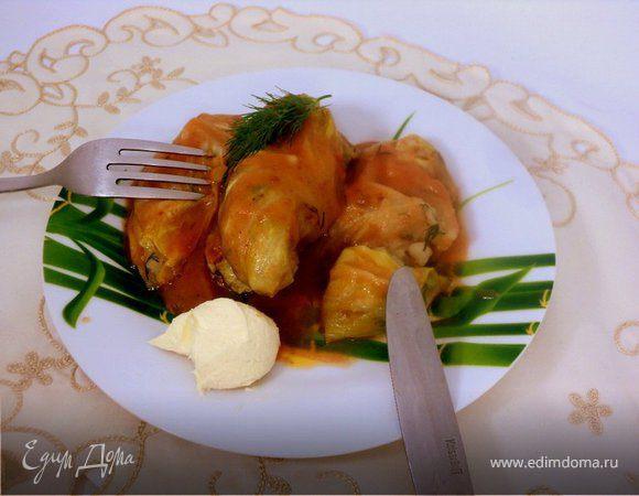 Голубцы с картофелем и грибами
