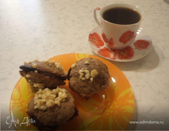 Печенье в арахисовом грильяже с шоколадной прослойкой