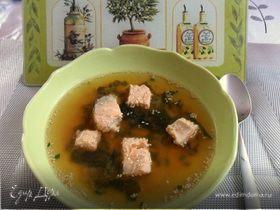 Суп с лососем в японском стиле