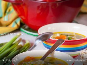 Куриный суп с домашней лапшой «Весенний»