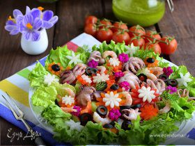 """Салат """"Цветочная поляна"""""""