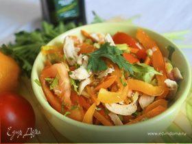 Салат из болгарского перца и помидоров