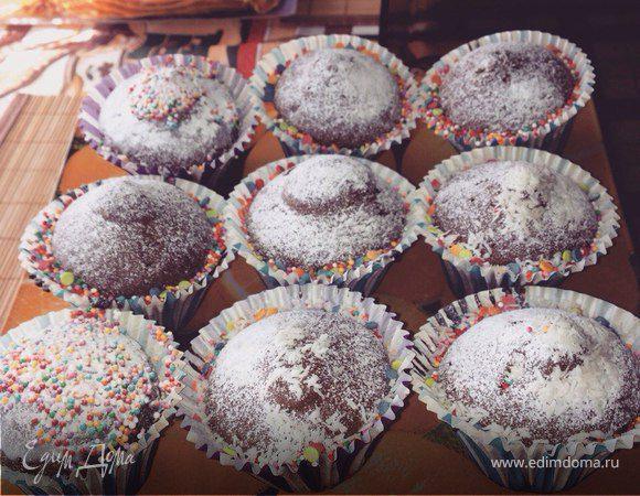 Шоколадные мини-кексы