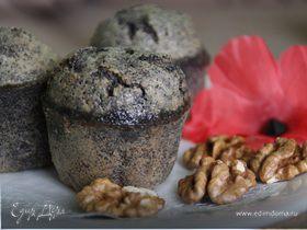 Маково-ореховый маффин без муки