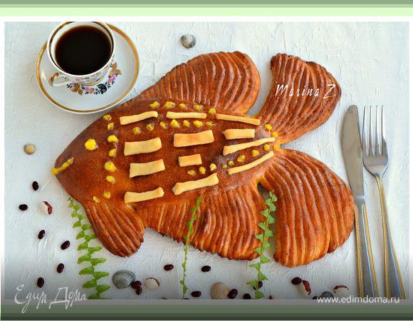"""Пирог из нестареющего теста """"Золотая рыбка"""""""