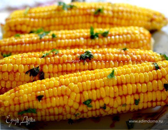 Кукуруза с масличным барбекю соусом