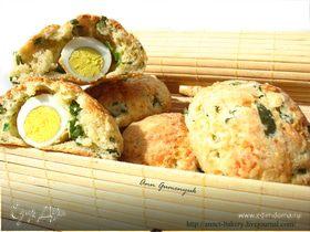 Сырные булочки с яйцом