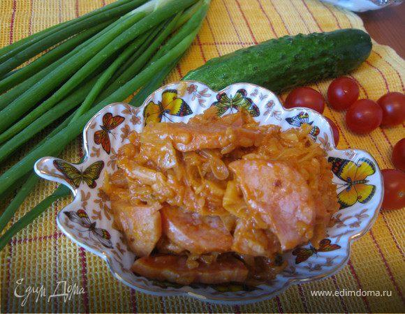 Лаханоризо с колбасками