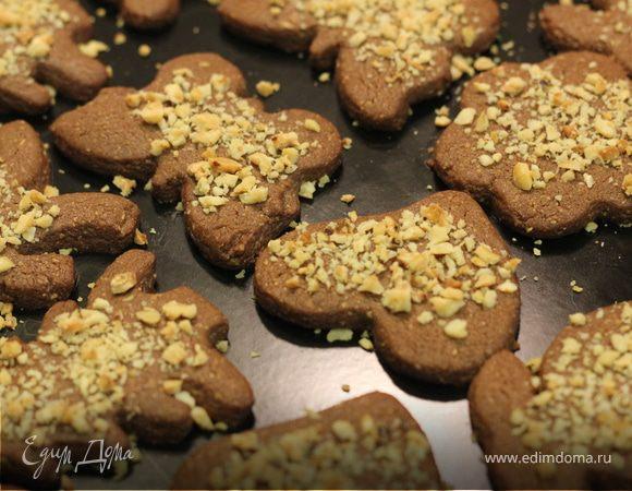 Хрустящее шоколадно-ореховое печенье