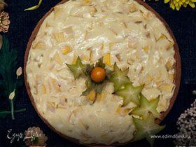 Нежный творожный тарт с манго
