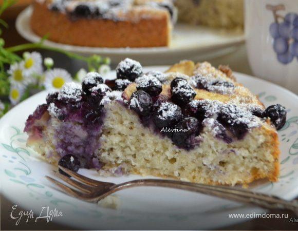 Чайный кекс с семенами чиа, голубикой и яблоками