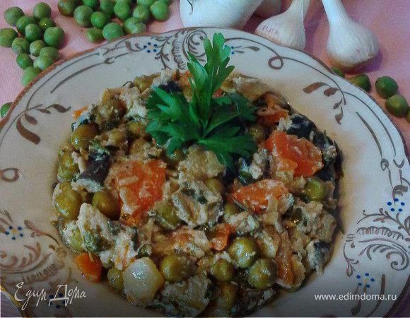 Летний овощной салат-гарнир