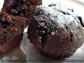 Теплые шоколадные кексы