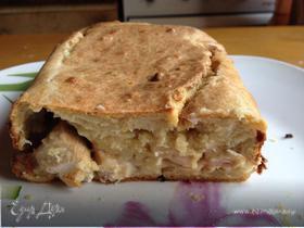 Сырный кекс с курицей (Любителям бутербродов посвящается)