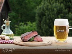 Фланк-стейк, маринованный в пиве