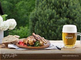 Курица в цитрусово-пивном маринаде