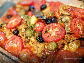 Курица, тушеная с помидорами по-средиземноморски