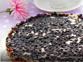 Сырный пирог с черникой