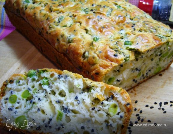 Сырный кекс с чернушкой