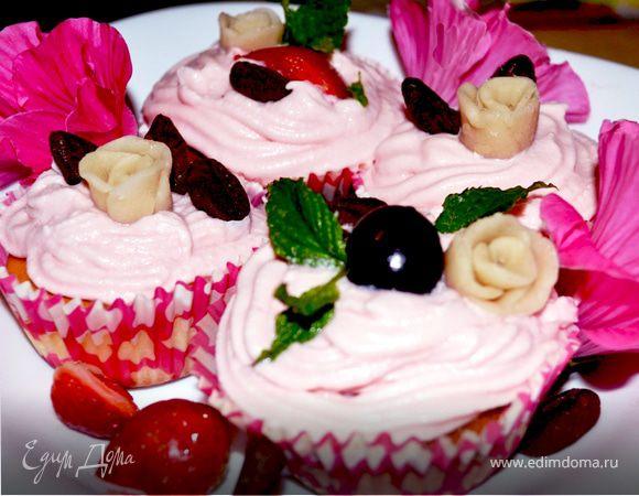 Капкейки «Розовое счастье»