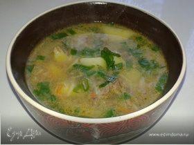 Суп с куриной печенью (обед отличника)
