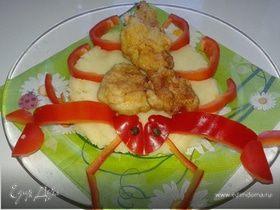 Пюре с куриными нагетсами
