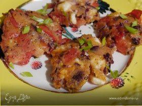 Оладушки с помидорами и сыром