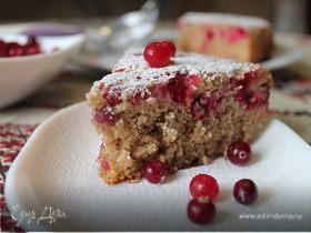 Пирог домашний с клюквой