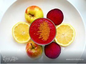 Свекольный смузи с яблоком и лимоном