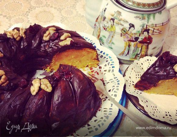 Пряный тыквенно-апельсиновый кекс (ленивый)