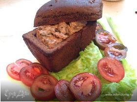 Говядина по-строгановски в хлебном горшочке
