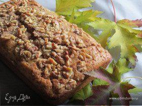 Творожный кекс с шоколадом и орехами