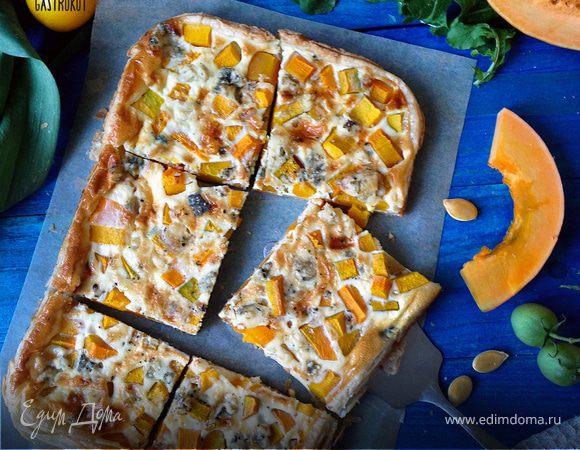 Пирог с тыквой и голубым сыром