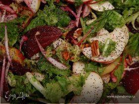 Салат со свеклой и орехами пекан