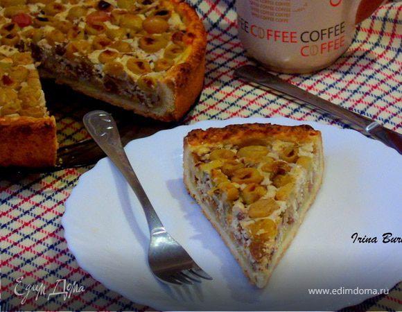 Деревенский тарт с виноградом и розмарином – кулинарный рецепт