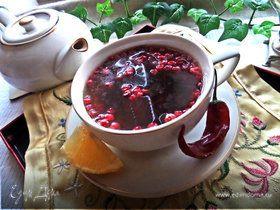 """Необычный чай """"Брусничный"""""""