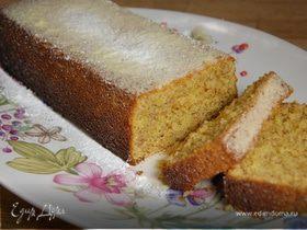 Миндальный пирог на поленте и рисовой муке