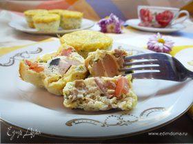 Яичные кексы с ветчиной к завтраку