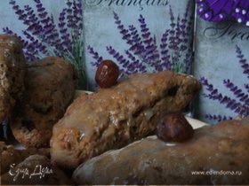 Шоколадные сконы с вяленой вишней