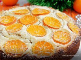 Пирог с мандаринами на Рождество
