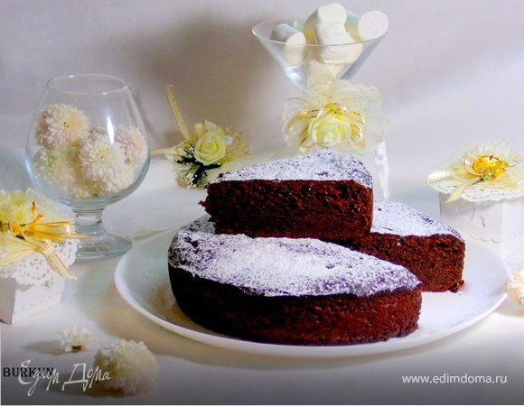 Шоколадный пирог на твороге