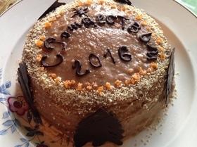 Блинный торт с орехово-шоколадным кремом