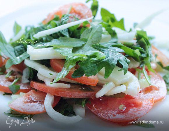Салат из кальмара с фенхелем