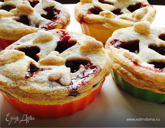 Мини-пироги с клубнично-бальзамической начинкой