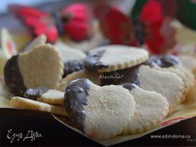 Печенье «Сердечки в шоколаде»