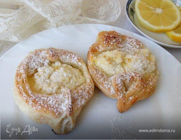 Лимонные ватрушки на слоеном тесте