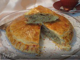 Слоеный пирог с миндалем